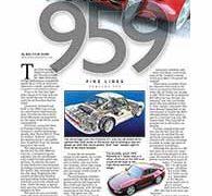 Fine Lines, Porsche 959</br>Fine Lines August 29, 2016