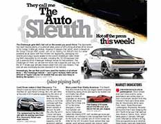 The Auto Sleuth</br>Sept 5, 2016