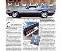 Fine Lines: Shelby Mustang</br>Fine Lines October 17, 2016
