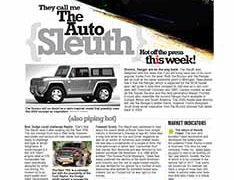 The Auto Sleuth</br>Sept 26, 2016