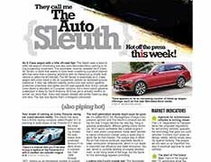 The Auto Sleuth</br>Sept 12, 2016