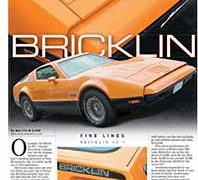 Fine Lines: Bricklin SV-1</br>Fine Lines November 14, 2016