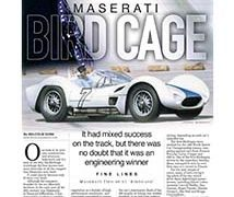 Fine Lines: Maserati Birdcage</br>Fine Lines August 14, 2017
