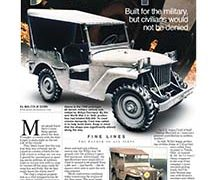 Fine Lines: The original Jeep</br>Fine Lines October 8, 2017